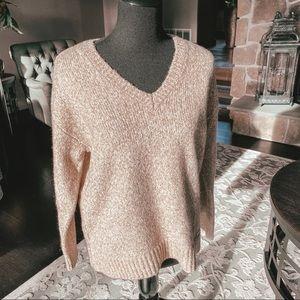 MICHAEL Michael Kors V Neck Cream Sweater